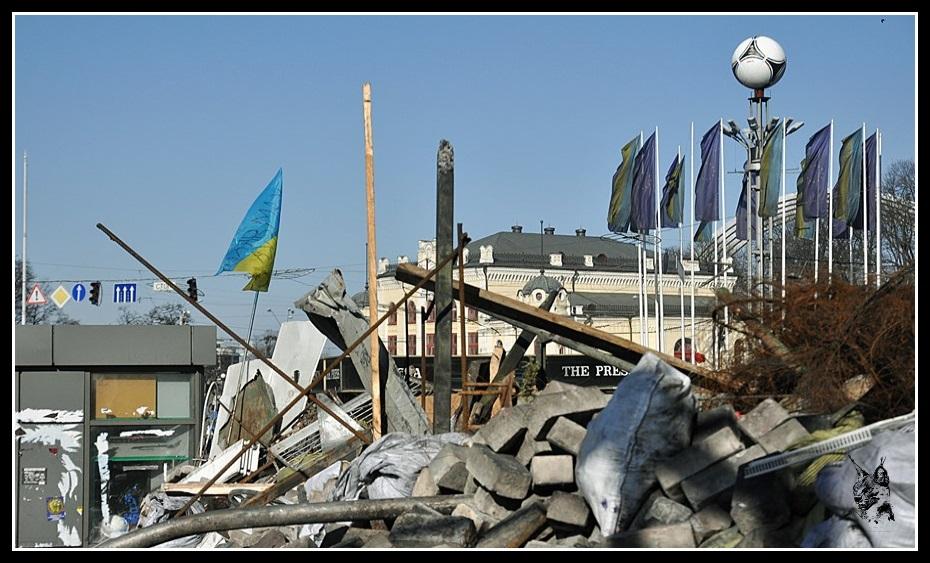 Kiev - Révolution de 2014 Euromaidan - Barricades