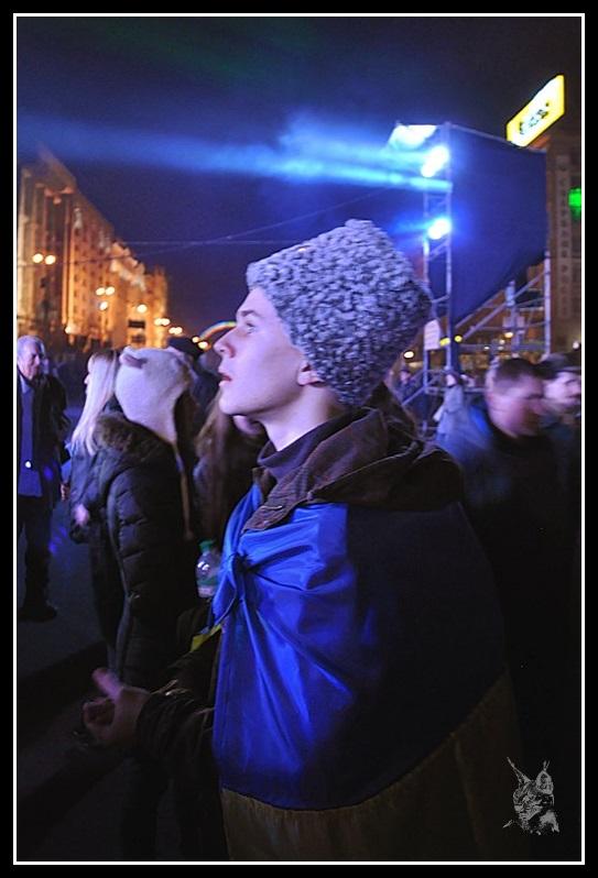 Kiev - Révolution de 2014 Euromaidan - Concert du dimanche 9 Mars 2014