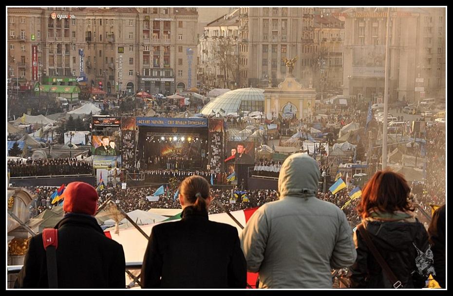 Kiev - Révolution de 2014 Euromaidan - La foule le dimanche 9 Mars